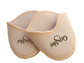 Gel toe pads covered by cotton fabric