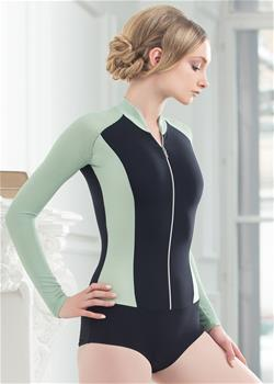 Fashionable leotard with a front zipper