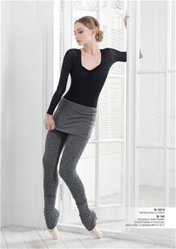 Fashionable leggins with a lapel