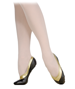 This model has a U-shaped middle vamp and split leather sole. An elastic drawstring and pre-sewn elastics ensure perfect fit.