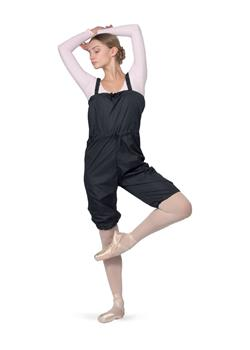 Short unitard with sauna effect for practice and aerobics.