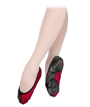 This model has a U-shaped middle vamp and split leather sole. Shoes are made for performances.
