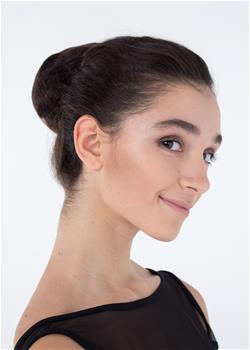 Invisible grid for the perfect hair bun.