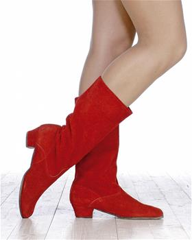 Elegant leather boots for traditional folk dance.