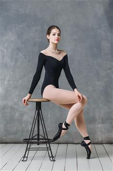 Stunnig leotard with mesh insert