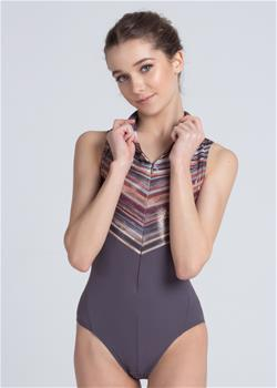 Beautiful zipper front leotard for kids.